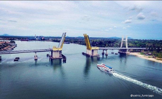 bangka belitung jembatan batu rusa
