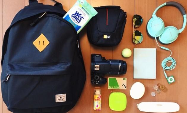 barang barang yang di bawa saat traveling