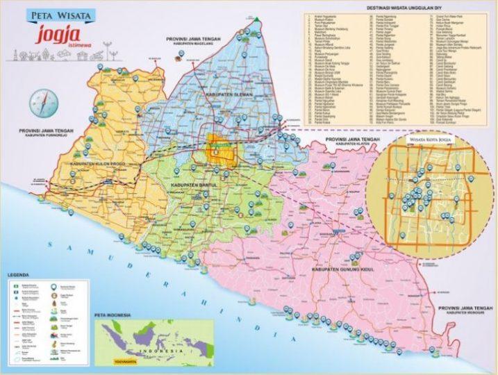 Peta Wisata Jogja Ukuran Besar Kumpulan 100 Wisata Jogja Terbaru Lazuva Com Tempat Wisata Indonesia Pariwisata Indonesia
