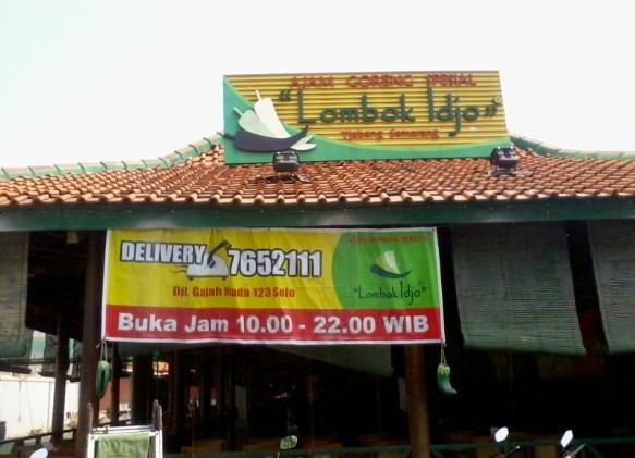 wisata kuliner RM Lombok Idjo solo dekat stasiun balapan
